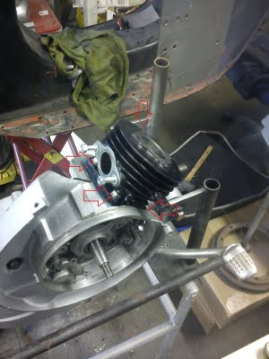 Vespa Motor Reassembly Piston and Cylinder